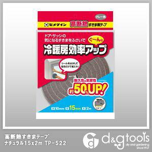 セメダイン 高断熱すきまテープ グレー 15×2m (TP-522) 補修キット リペア フローリング 補修