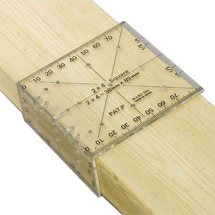 ラクダ   Rakuda ツーバイフォー定規(2×4木材用) 12022 線引き 点付け