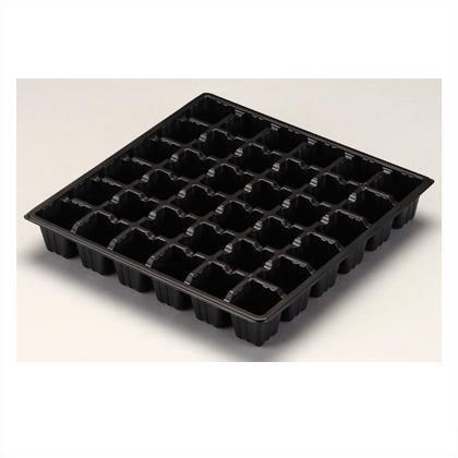 富川化学工業 セルボックス36穴 黒 285×285×45H 10 枚