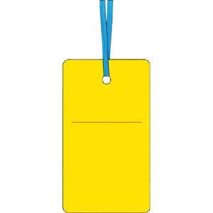 つくし工房 ケーブルタグ 荷札式 黄無地 両面印刷 ビニタイ付き 70×40mm 30F 1 枚