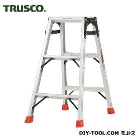 TRUSCO はしご兼用脚立アルミ合金製・脚カバー付高さ0.81m THK-090