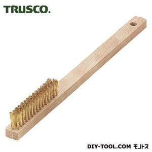トラスコ(TRUSCO) 木柄真鍮ブラシ3行真鍮 239 x 16 x 25 mm TB-5007-10