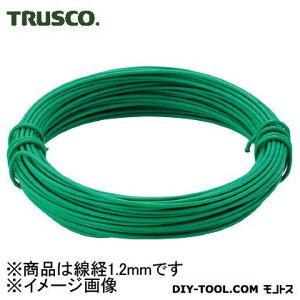 トラスコ(TRUSCO) カラー針金小巻タイプ・18番手緑線径1.2mm 78 x 80 x 20 mm TCWS12GN