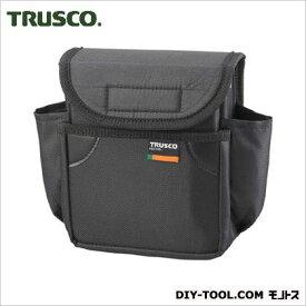 トラスコ 小型腰袋 二段フタ付 黒 TC52BK