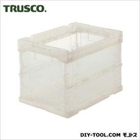 TRUSCO スケルコン折りたたみコンテナ20L透明 TM TR-S20