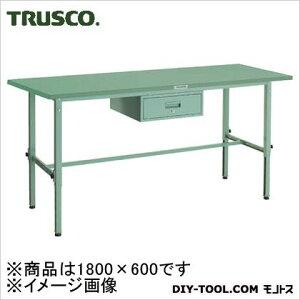 トラスコ 軽量高さ調整作業台1段引出付鉄天板 1800×600 SAEM1860F1
