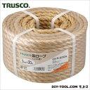 トラスコ 麻ロープコイル巻き φ9×30m R930A