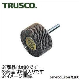 トラスコ フラップホイル 外径φ40×厚み30×軸径6ミリ 80# UF4030 1箱(5個)