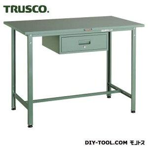 トラスコ 軽量立作業台鉄天板 引出1段 1200×750 300kg HSAE1200F1