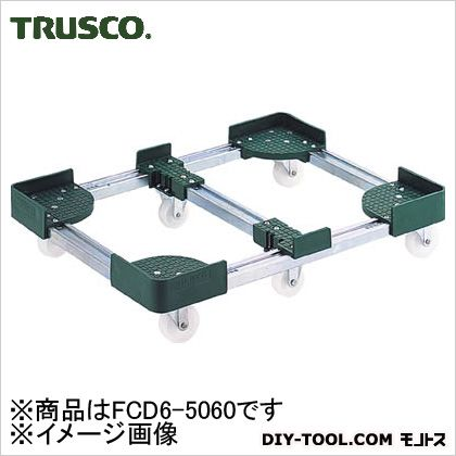 TRUSCO 伸縮式コンテナ台車内寸500−600X600−700スチール製 FCD6-5060