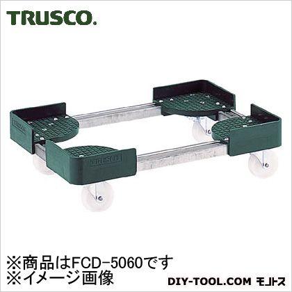TRUSCO 伸縮式コンテナ台車内寸500−600X600−700スチール製 FCD-5060