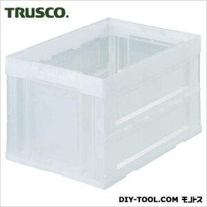 トラスコ(TRUSCO) α折りたたみコンテナ50L透明 TM 530 x 365 x 84 mm CRS50N-TM