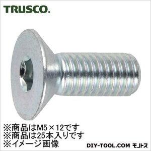 トラスコ(TRUSCO) 六角穴付皿ボルト三価白サイズM5X1225本入 139 x 70 x 28 mm B773-0512 25本
