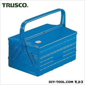 TRUSCO 工具箱 2段式 ブルー GL-350-B スチール製 ツールボックス 収納