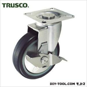 トラスコ(TRUSCO) プレス製省音キャスターゴム車輪・ステンレス金具自在S付Φ100 100 x 130 x 135 mm TXSJB100