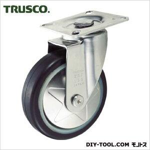 トラスコ(TRUSCO) プレス製省音キャスターゴム車輪・ステンレス金具自在Φ100 149 x 101 x 151 mm TXSJ100