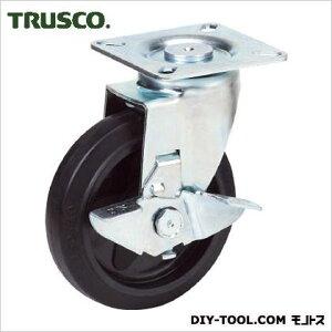 トラスコ(TRUSCO) プレス製省音キャスターゴム車輪自在ストッパー付Φ100 95 x 140 x 140 mm TXJB100