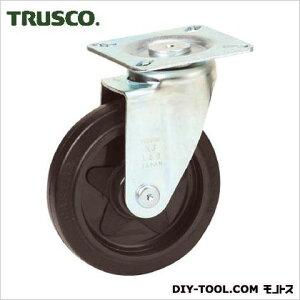 トラスコ(TRUSCO) プレス製省音キャスターゴム車輪自在Φ100 131 x 95 x 132 mm TXJ100