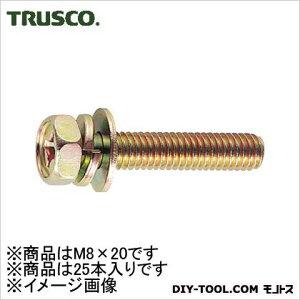 トラスコ クロメートアプセットSW・W付 M8×20 (B680820) コーススレッド ねじ 木ネジ 木材用