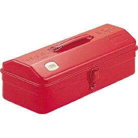TRUSCO 山型工具箱 レッド Y-350-R スチール製 ツールボックス 収納