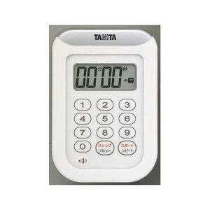 タニタ デジタルタイマー 丸洗いタイマー100分計 (TD-378WH)