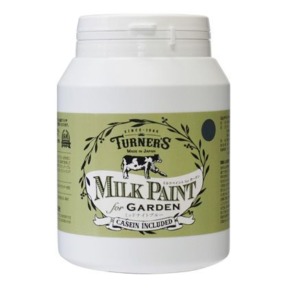 ターナー色彩 【新商品】 ミルクペイントforガーデン ミッドナイトブルー 450ml MKG45353 ペンキ アンティーク