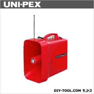ユニペックス 30W防滴スーパーワイヤレスメガホン サイレン付 幅218mm高さ371mm奥行き350mm 赤色 TWB-300S 1台
