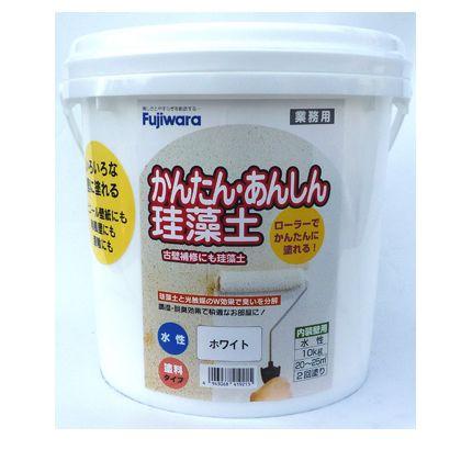 フジワラ化学 ローラーで塗れるかんたんあんしん珪藻土6坪用 ホワイト 10KG 6220200