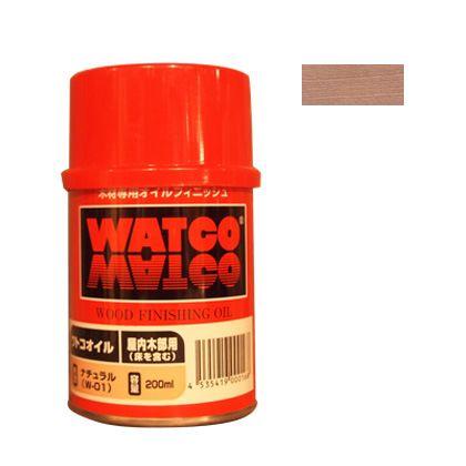 ワトコ社 ワトコオイル浸透性木材用塗料 ホワイト 200ML W-07