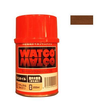 ワトコ社 ワトコオイル浸透性木材用塗料 チェリー 200ML W-08