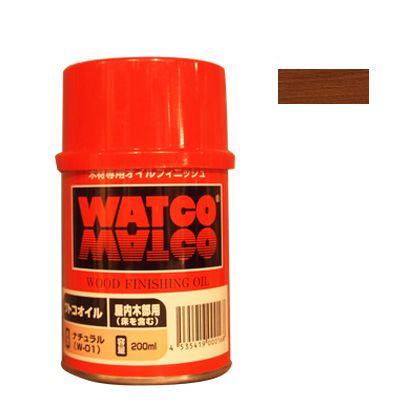 ワトコ社 ワトコオイル浸透性木材用塗料 マホガニー 200ML W-09