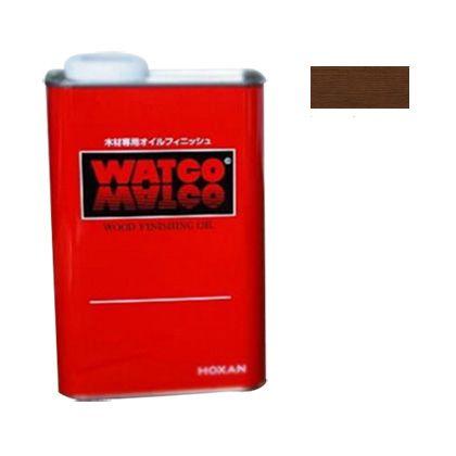 ワトコ社 ワトコオイル浸透性木材用塗料 エボニー 1L W-10