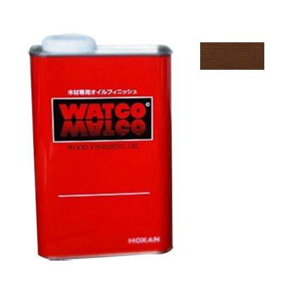 ワトコ社 ワトコオイル浸透性木材用塗料 エボニー 3.6L W-10