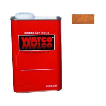 ワトコ社 ワトコオイル浸透性木材用塗料 ミディアムウォルナット 3.6L W-12