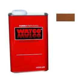 ワトコ社 ワトコワックス浸透性木材用塗料 茶(ダークウォルナット) 1L W-14