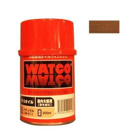 ワトコ社 ワトコワックス浸透性木材用塗料 茶(ダークウォルナット) 200ML W-14