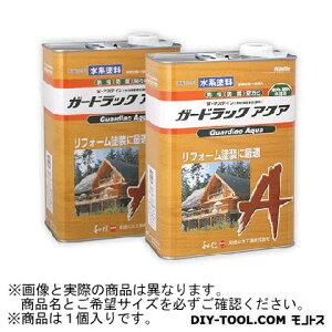 和信化学工業 ガードラックアクア W・Pステイン(木材保護塗料) A-10 ブラウン 3.5Kg (58811)