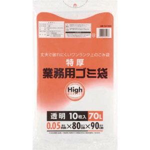 ワタナベ工業 ワタナベ 業務用ポリ袋70L 特厚 透明 1袋 5M80C 5M80C 1 袋