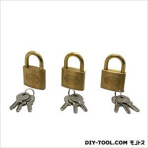 ノーブランド シリンダー南京錠 鍵番指定同一 40mm G-020 3個
