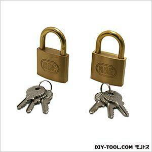 ノーブランド シリンダー南京錠 鍵番指定同一 40mm G-019 2個
