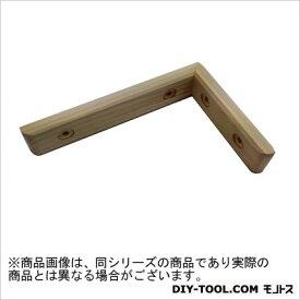 フジテック 天然木筋金入ワイド棚受 ヒノキ・ユニクロメッキ(鉄) 115×215mm (13381)