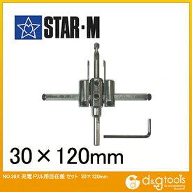 スターエム 超硬自在錐 セット 30×120mm 36T