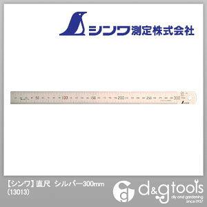 シンワ測定 シンワ直尺300mm 300mm シルバー 13013 1点