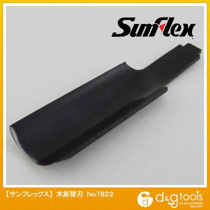 サンフレックス 木彫替刃 平軸 丸型 15mm巾 (No.7822)