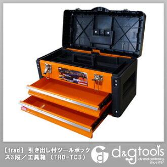 繁體抽屜工具箱 3 階段 / 工具盒橙色 TRD TC3)