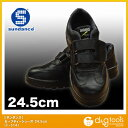 サンダンス セーフティーシューズ/マジックタイプ安全靴 黒 24.5cm F-314