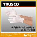 トラスコ 使い捨て極薄手袋ニトリル製粉無し ホワイト M TGL746NM 100 枚