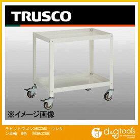 トラスコ(TRUSCO) ラビットワゴン360X360ウレタン車輪W色 RBW632UW