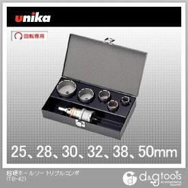 ユニカ 超硬ホールソー トリプルコンボ 設備工事用セット (TB-42)