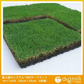 山崎工業 (神鷹) 屋頂綠化系統真正草坪馬特 TM9 草坪墊 1 米乘 1 分鐘 (50 釐米廣場 4 光碟) (55700000090000)
